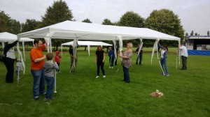 Setting up the gazebos